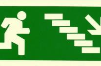 Escadas descida à direita – Sinalética Revenda