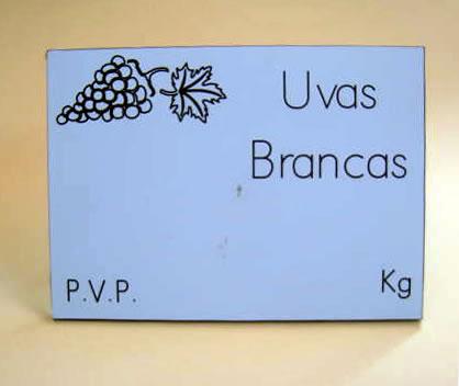 Placas Frutas e Legumes