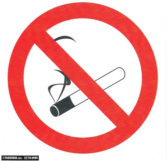 Proibido fumar – Revenda Sinalética