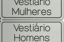 Placas portas vestiários